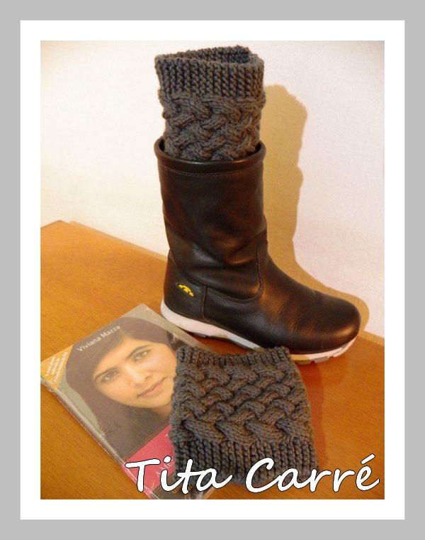 Boots cuffs\Mini polaina em tricot com a coragem