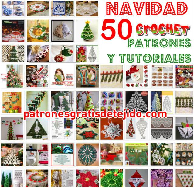 Gran coleccion de patrones crochet para todo tipo de adornos y arbolitos de navidad