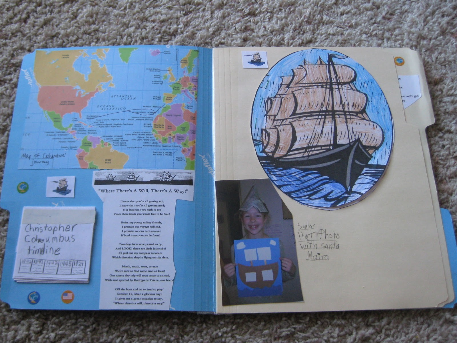 thy word columbus day lapbook