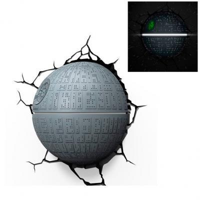 Lámpara de Pared 3D Estrella de la Muerte