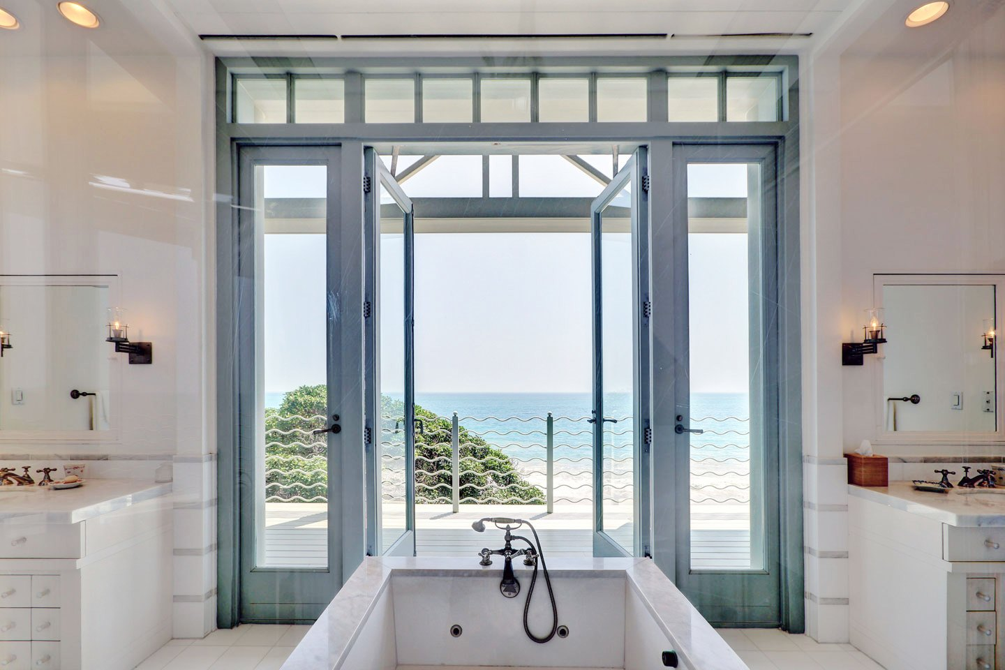 Cococozy see this house what 50 million dollars buys for Master bathroom windows