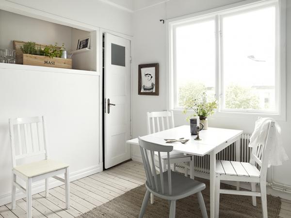 detalles cocina apartamento nórdico clásico