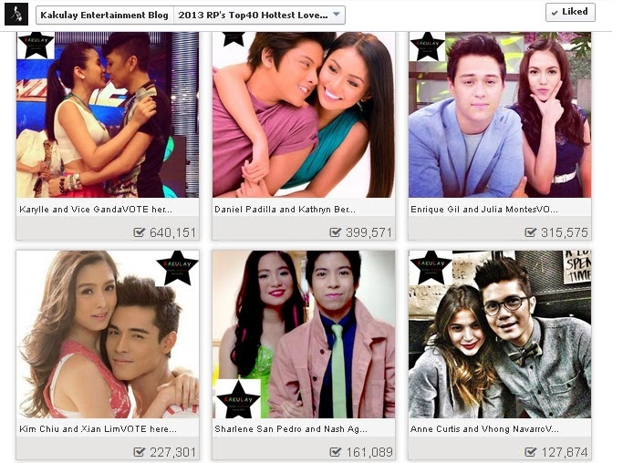 2013 RP's Top 40 Hottest Loveteam Year 7.