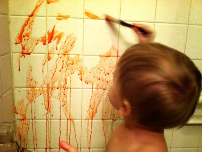 kool-aid paint, bathtub activities, kool-aid paint bathtub, pinterest fail, early education, DIY bath paints