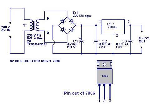 6 volt regulator using ic 7806 final year project for electronics rh shyyampatel blogspot com 6 Volt Battery 1940 Buick 6 Volt Battery