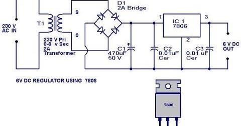 volt regulator circuit using 7806 electronic circuits and diagram6 volt regulator using ic 7806 final year project for electronics volt regulator circuit using 7806 electronic circuits and diagram