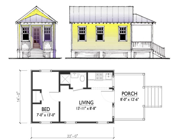Carriage house plans small cottage house plans for Small guest house ideas