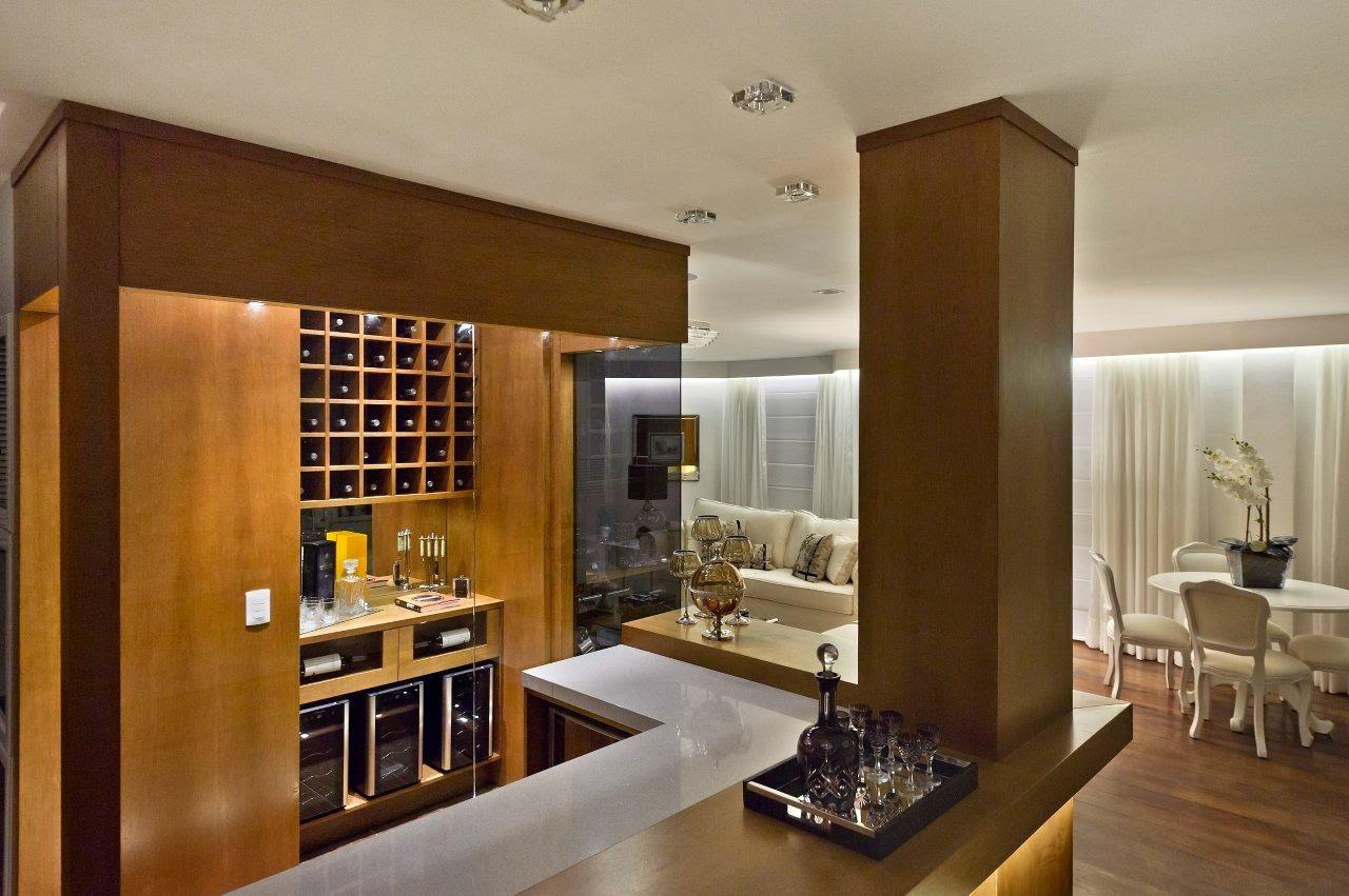 #BF940C Bar em casa – veja ideias simples e sofisticadas para montar o seu  1280x851 px Cozinha Americana Com Bancada E Bar_3231 Imagens