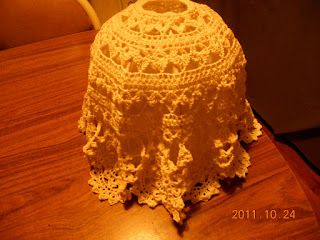 AUGUSTA CRAFTER: Crocheted Lamp Shade Cover