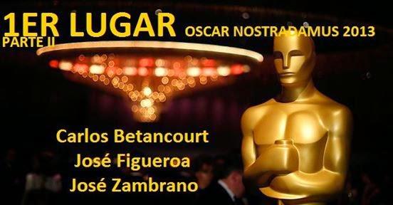 Primer Lugar: Nostradamus de los Oscar 2013