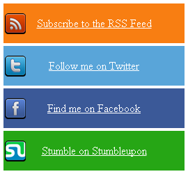 Multicolor Social Subscription Widget