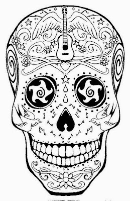 Mexican Sugar Skull Tattoo Coloring Pages - Colorings.net