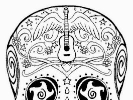 Mexican Sugar Skull Tattoo Coloring Pages