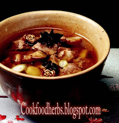 Herb foods for children - Hwang Jung Pork Soup
