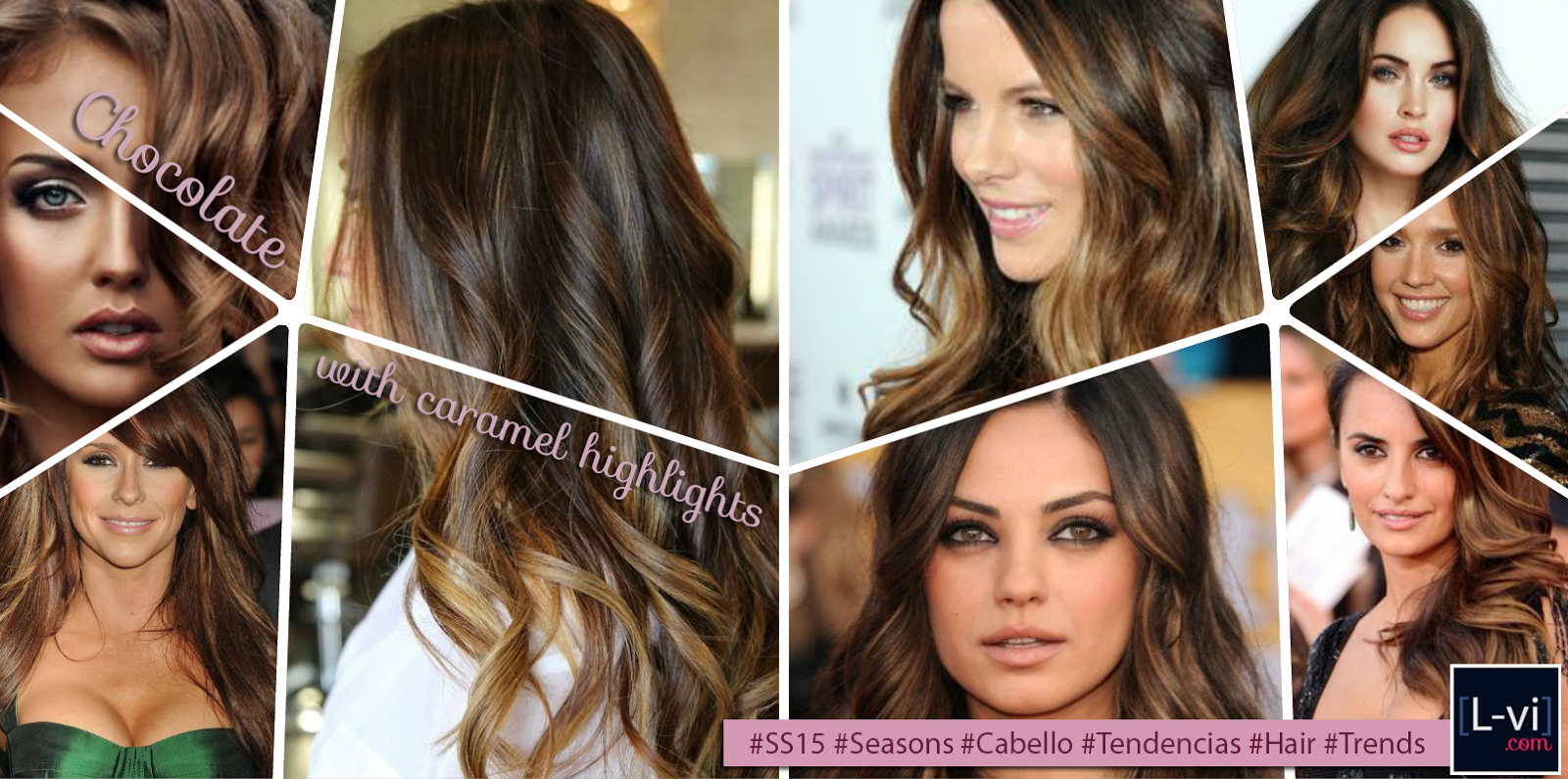 [SS15] Hair Trends: Chocolate with caramel highlights  L-vi.com