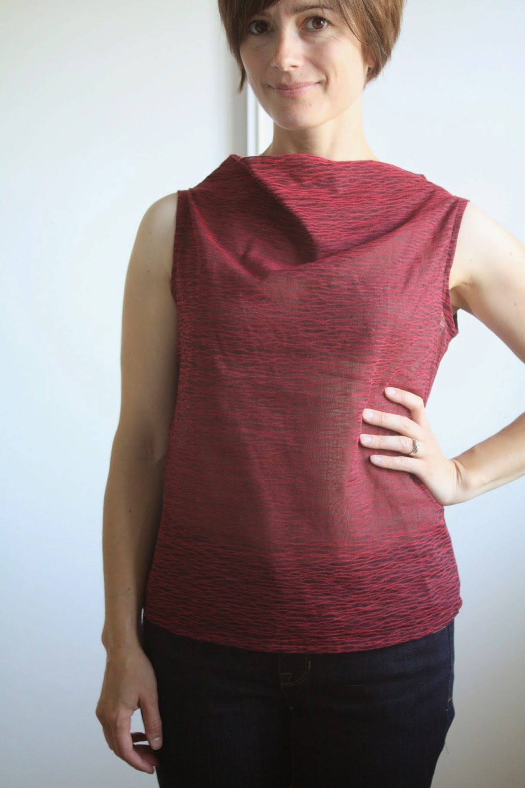 Free Cowl Neck Blouse Pattern 86