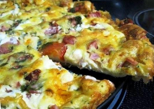 Быстрая пицца на сковородке без сметаны рецепт