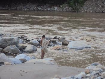 Desembocadura del Río San Andrés en el Ríos Cauca antes de la prohibición de la pesca