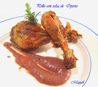 Pollo con salsa de Oporto