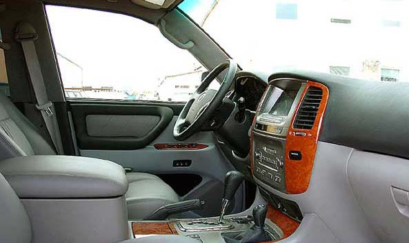 interior land cruiser vx