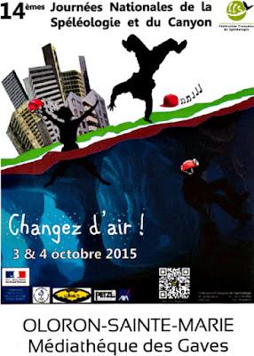Oloron : Journées nationales de la spéléologie 2015