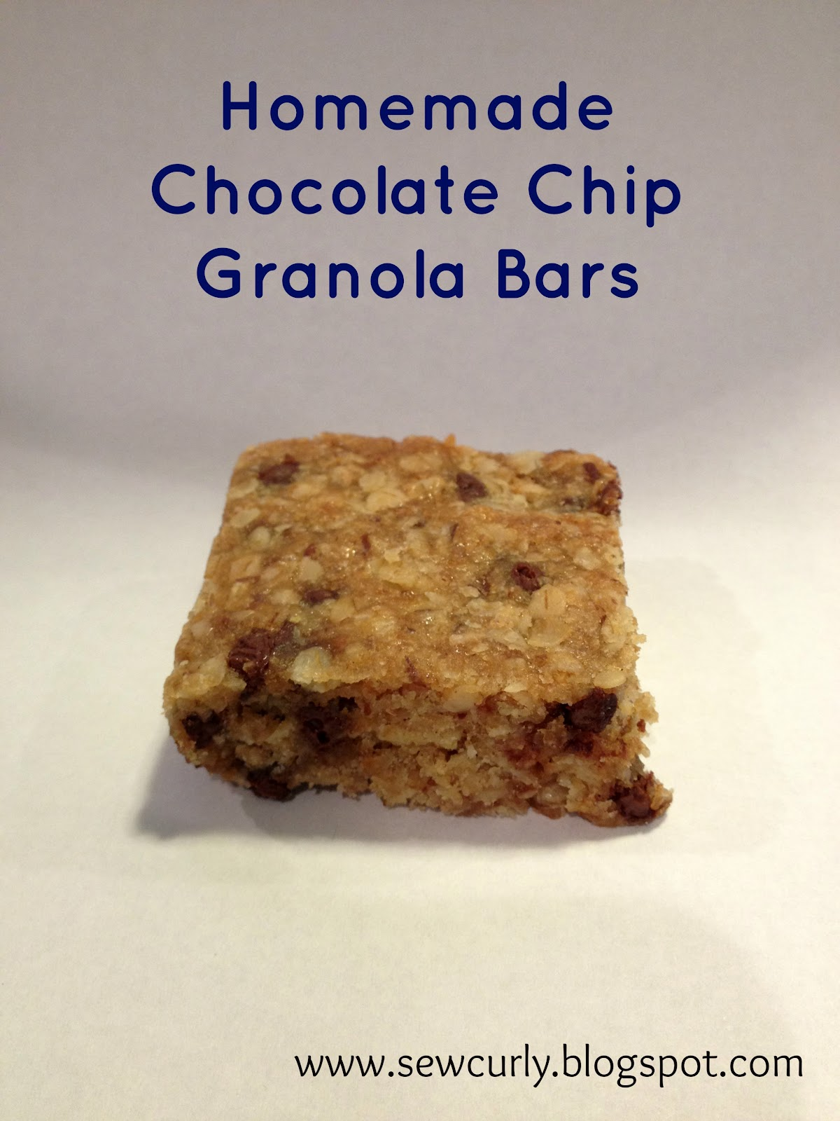 Kristina Grum: Recipe: Homemade Chocolate Chip Granola Bars