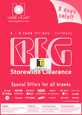Hoe Huat Home Appliance Big Clearance