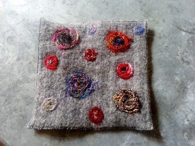recycled sweater felted potholder
