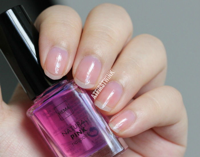 HEMA natural pink nail polish (Dior Nail Glow dupe) | On all nails
