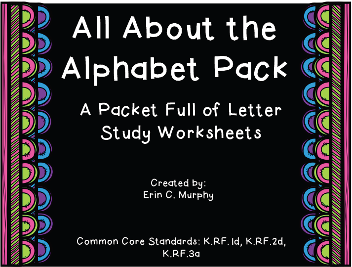 http://www.teacherspayteachers.com/Product/All-About-the-Alphabet-Packet-1284503