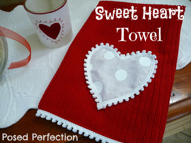 DIY Valentine's Heart Towel