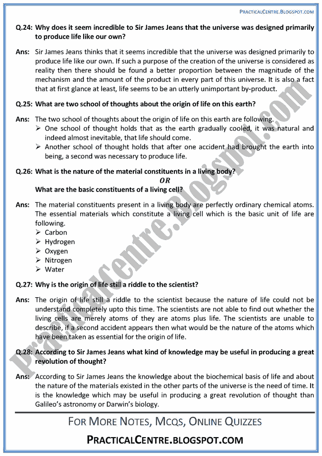 an-astronomers-view-of-the-universe-prose-short-questions-answers-english-xii