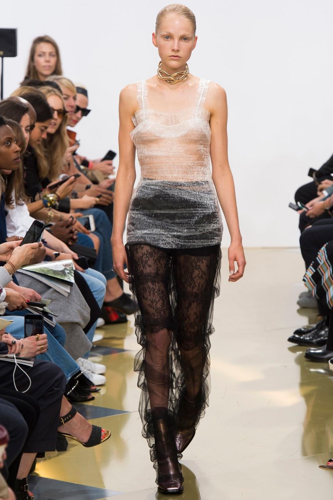 lfw spring 2016, London Fashion Week, sheer, catwalk, model