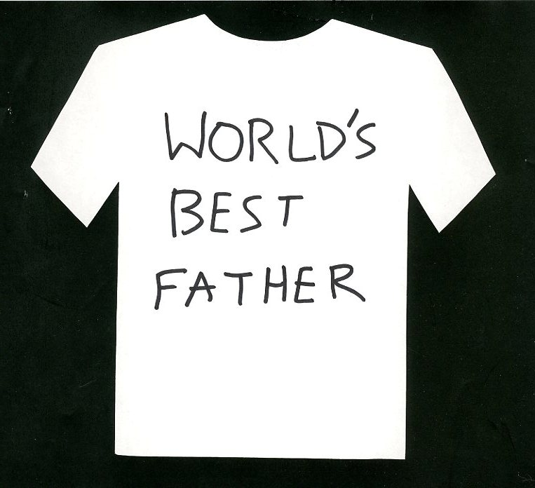 Personal Message Worlds Best Father T Shirt Proposal