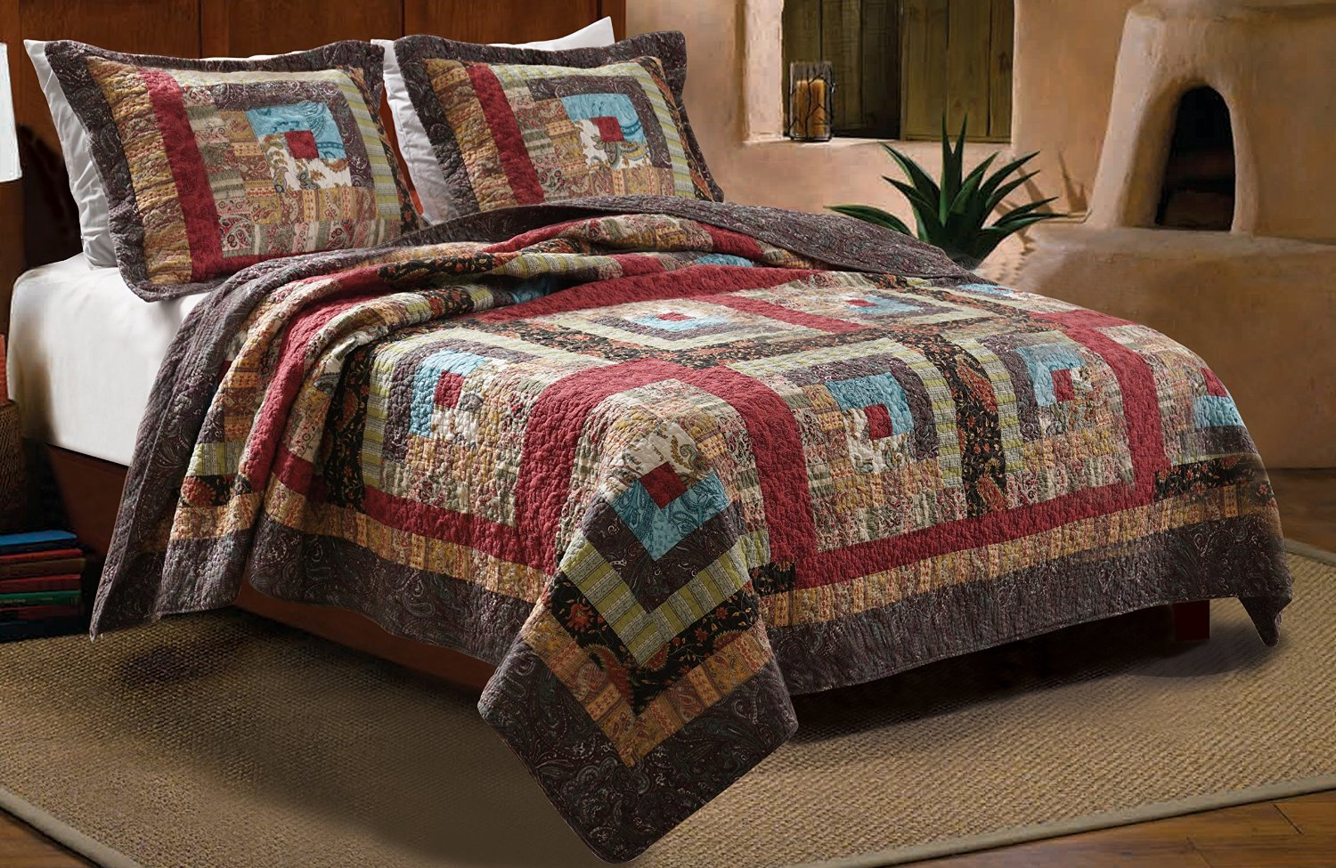 Primitive Country Quilt Rustic Bedding Set