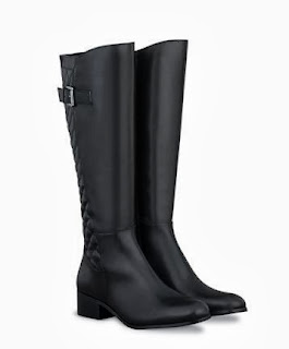 Black quilted leather riding boots