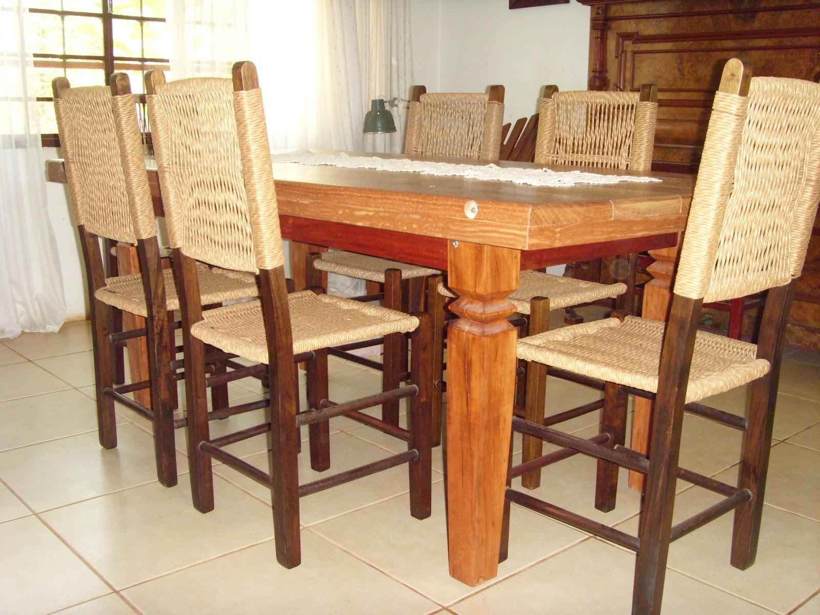 madeira maciça angelim 06 cadeiras com assento e encosto de palha #AF411C 1600x1200
