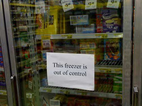 this freezer is out of control