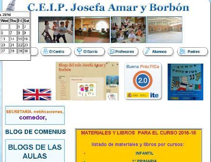 WEB CEIP JOSEFA AMAR Y BORBON.