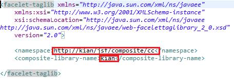 creating custom namespace in taglib.xml