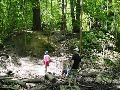 father's day outside in ravine