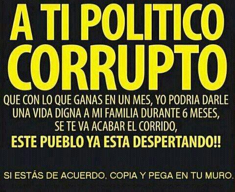 A TI POLITICO CORRUPTO
