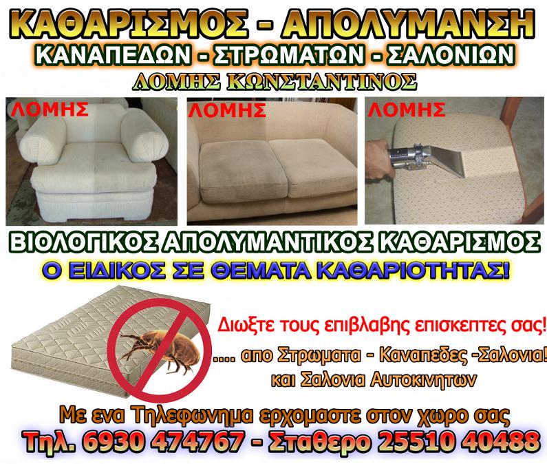Βιολογικος Καθαρισμος Σαλονιων Καναπεδων Στρωματων Αλεξανδρουπολη