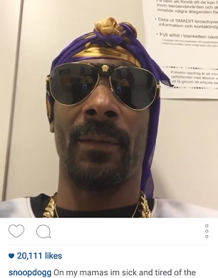 Snoop Dogg was arrested in Sweden