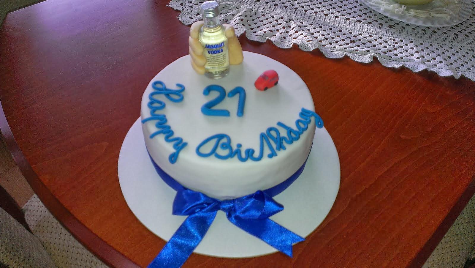 Torta k 21 narodeninám