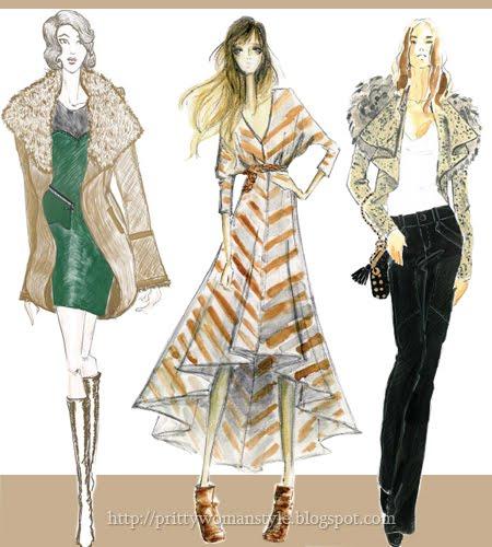 Бежово кафяви дрехи - дамска мода есен 2011
