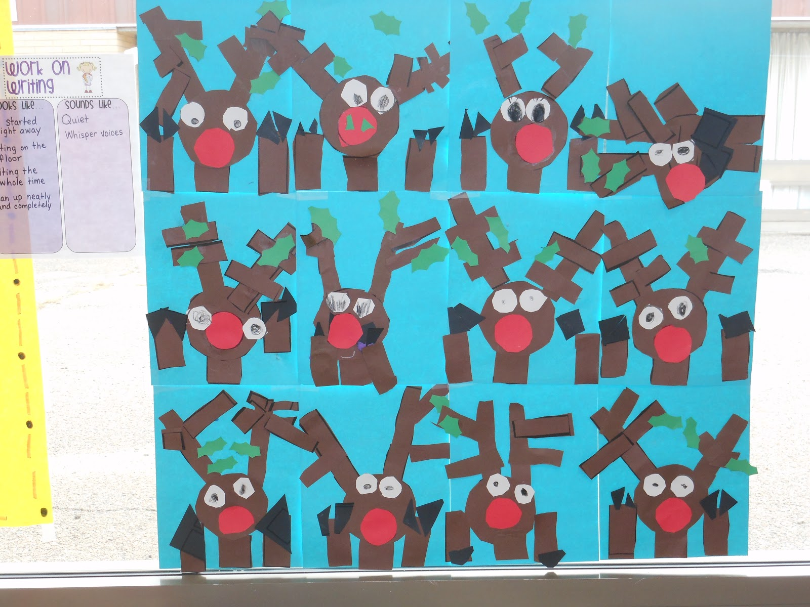 Mrs. Straight\'s Kindergarten Korner: December Art Work