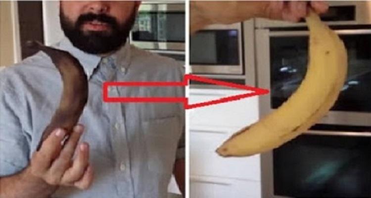 بالفيديو إسترجع لون الموز من الأسود الى الأصفر في لحظات