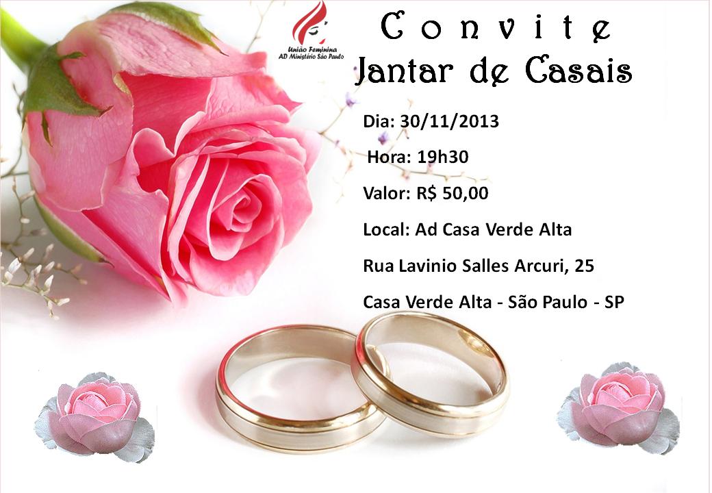 Adelia Brunelli: CONVITE ENCONTRO DE CASAIS