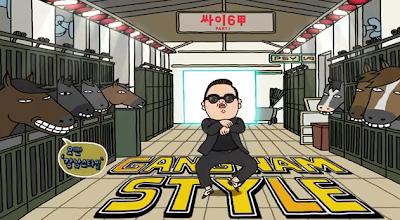 Psy Gangnam Style cartoon horses